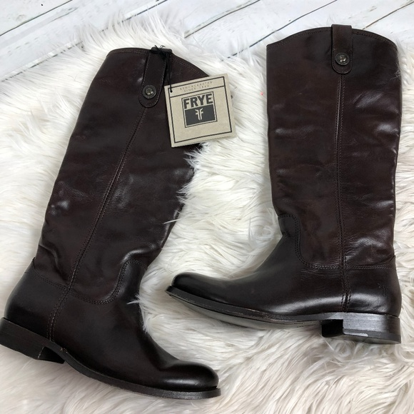 a916826fa992 Frye Melissa Button Brown pull on boots